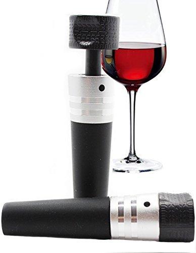 KisKis Premium Air Vacuum Pump Wine Bottle stopper (All In One - stopper, vacuum, pump) (Black)