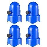 MAGELIYA 4 STK. 1,5'Durchmesser Trampolin-Gehäusestangen Kappe Trampolinrohr Obere Abdeckung Sprungbett Rohrkappe Ersatzzubehör