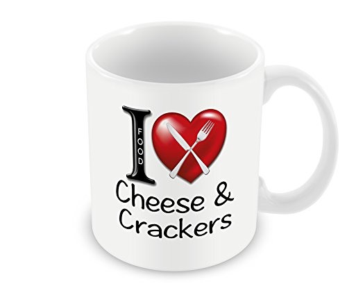 Chalkhill Printing Company CP 145 Voedsel Mok - Ik hou van Kaas & Crackers