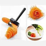 BOLLAER - Pelador en espiral para cortar patatas, rollo de verduras, herramienta decorativa de flores, utensilio de cocina, cortador de frutas y pepino