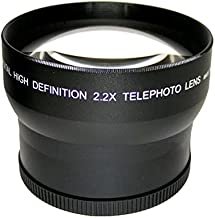 High Grade 2.2X Telephoto Conversion Lens (62mm) for Sony FDR-AX100