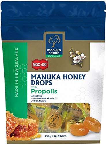 Manuka Health MGO 400+ Manuka Honey Drops Propolis マヌカハニー プロポリス キャンディー 250g [並行輸入品]