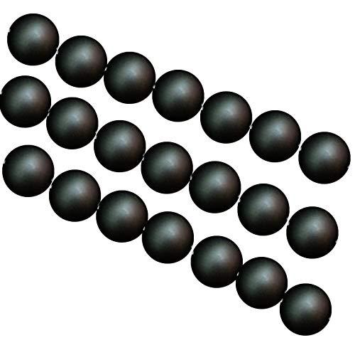 PINGGUO Jades Tanzanita Aaaa Calidad Negro Frost Onyx Agata Cuentas Redondas 15' Strand 4 6 8 10 12 14 Mm Pick Size
