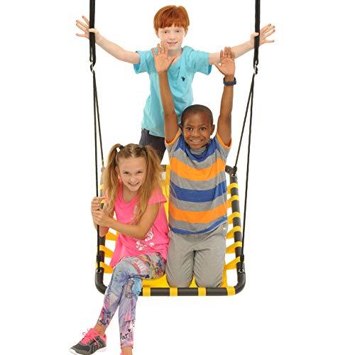 Swinging Monkey Products Giant Mat Platform Swing, Yellow