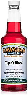 Hawaiian Shaved Ice Syrup, Tiger's Blood, Pint