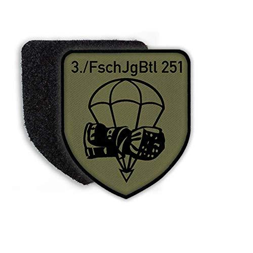 Copytec Patch 3 FschJgBtl 251 Calw Fallschirmjägerbataillon Kompanie Bundeswehr Aufnäher Fallschirmjäger Emblem#23066