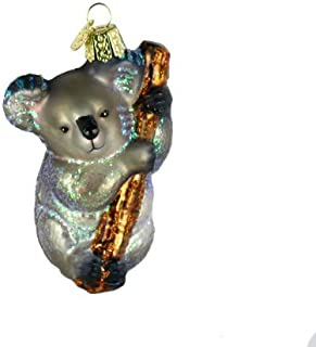 Old World Christmas Wildlife Animals Glass Blown Ornaments for Christmas Tree,Koala Bear