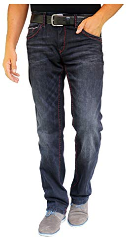 Camp David Herren Jeans Straight Leg CO:NO:C622 BLACK USED COMFORT FIT, Farbe: Schwarz, Größe: 31/34