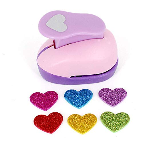 Craft Hole Punch Paper Puncher-Scrapbook Hole Punch Craft Puncher-Shape Punch for Decorating Paper Crafts, Card Making, Envelopes (Heart)