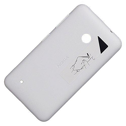 Original Akkudeckel weiss für Nokia Lumia 530 und 530 Dual Sim inklusive Ein/Aus und Laut/Leise Taste