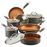Farberware Glide Pro Hard Anodized Ceramic Nonstick Cookware Pots and Pans Set, 11