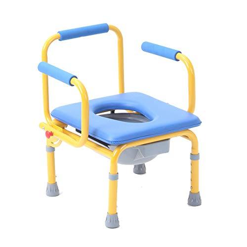 Kleinkind-Toilettenstuhl, Kinder-Kommodenstuhl, mobile Toilette, höhenverstellbar, starke Tragfähigkeit, geeignet für Bad, Schlafzimmer, Outdoor/A / 48x42x58cm