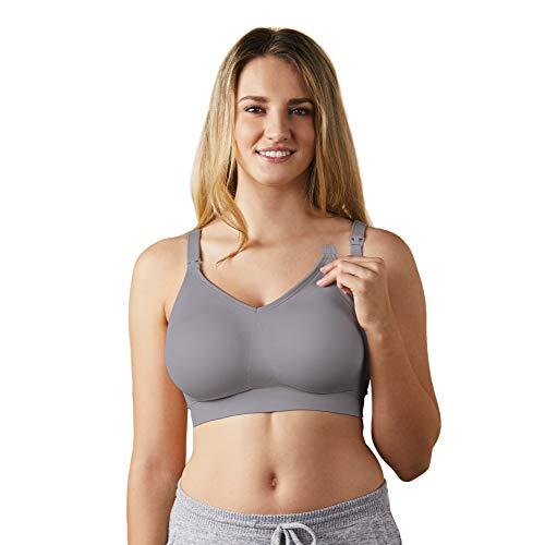 Bravado Designs Women's Body Silk Seamless Nursing Bra and Maternity Bra,Silver Belle,Small