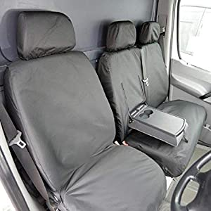 Custom Covers SC132B Tailored Heavy Duty Waterproof Front Seat Covers Black