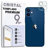 REY Protector de Pantalla para Cámara Trasera de iPhone 12, Cristal Vidrio Templado Premium