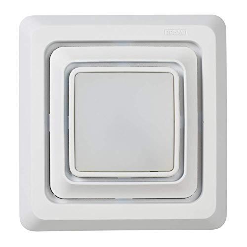 Broan-NuTone Broan FG600S LED Lighted Grille Upgrade for Bathroom Ventilation Fans, Easy Installation for DIY, White, Square