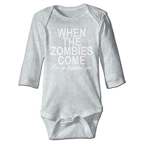 Body de manga larga para bebé, unisex, para recién nacido, serie Zombies