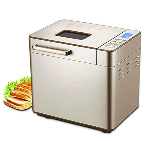 SMSOM Máquina de Pan con dispensador de Nuez de Fruta automática, máquina de Pan de Capacidad de 2 Libras XL con Olla de cerámica Antiadherente, 25 presets Inteligentes LED Pantalla táctil Digital, 3