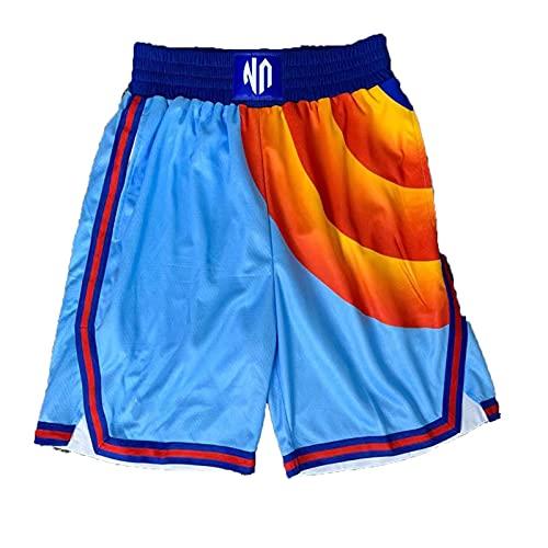 GGOO Tune Squad Jersey + Short 2021 James Space Jam - Maglia da basket ad asciugatura rapida, Pantaloncini., Large/X-Large