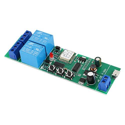 Kirmax para Ewelink MóDulo de Interruptor de Casa Inteligente InaláMbrico WiFi Relé de Avance WiFi MomentáNeo/Autoblocante/Enclavamiento para Alexa Home IFTTT