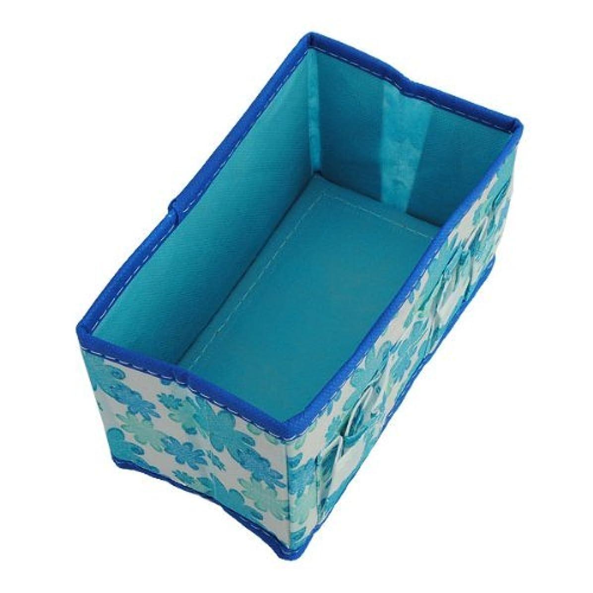 Hommy折りたたみ式 収納袋 おもちゃ タオル 化粧品 小物 収納ケージ カラー:グリーン (青)