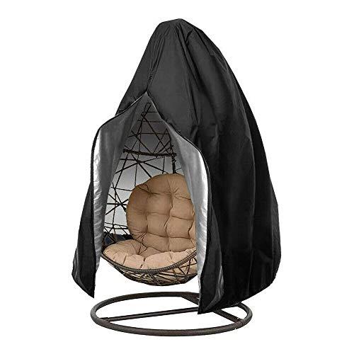 XJF Funda para silla de columpio, fundas para sillas de jardín, cubierta para silla colgante para colgar hamaca soporte de huevo de mimbre asiento de patio jardín al aire libre