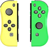 BestOff Controller für Nintendo Switch, Left und Right Controller Kompatibel für Nintendo Switch Console als Joy Con Controller-Gelb-Grün