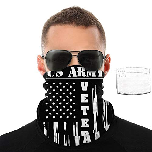Ramwans Us Army Veteran Mission Cooling Neck Gaiter With Filter Elastic Unisex Scarf,Bandana,Balaclava,Headband For Men And Women