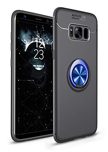 SORAKA Coque pour Samsung Galaxy S8 avec Anneau,Doux Slim Fit Housse en Silicone Coque Ultra-Mince avec Plaque métallique pour Support Téléphone Voiture Magnétique