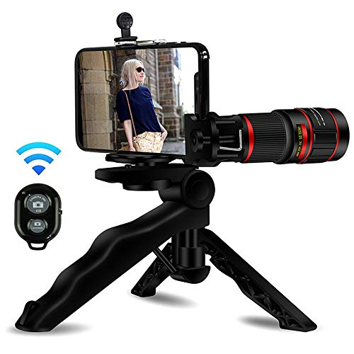 SHILIU Handy-Kamera-objektiv-kit, 20x Teleobjektiv-kit Mit Mini-stativ Und Fernauslöser Für iPhone X/Xr/Xs, Samsung Galaxy Huawei Und Die Meisten Smartphones