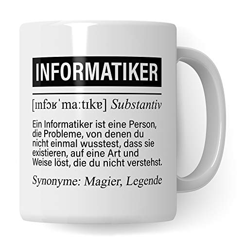 Pagma Druck Informatiker Tasse, IT Informatiker Geschenke lustig, Programmierer Becher Debugging Spruch Programmieren Informatik Geschenkidee, Entwickler Coder Developer Kaffeetasse