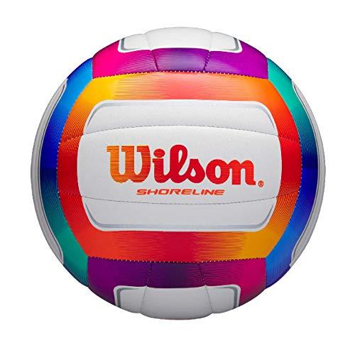 Wilson Volleyball SHORELINE, Synthetik-Material, Für Außenutzung, Mehrfarbig, WTH12020XB