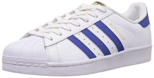 adidas Superstar Foundation, Unisex-Erwachsene Sneakers, Weiß (Ftwr White/Collegiate Royal/Ftwr White), EU 42