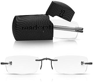 Read Optics: Gafas de Lectura para Presbicia Plegables - con Funda Rígida Incluida. Compactas de Bolsillo - Graduadas conLentes +2,50 Dioptrías (+1 hasta +3,50) de Hombre/Mujer