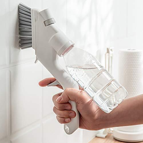 WOHCO Juego de cepillos de Limpieza, 4 en 1, rociador de Agua Multifuncional, Kits de Limpieza para el hogar con 4 cepillos, Adecuado para Cocina, baño, Suelo, bañera, Ducha
