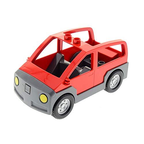 LEGO 1 x Duplo Auto rot neu-dunkel grau Wagen Van für Set 5655 4354c02