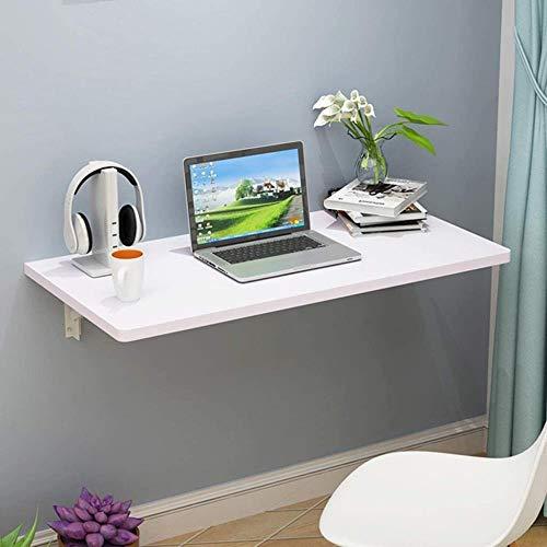 JIADUOBAO Mesa infantil plegable de madera maciza, mesa de comedor, mesa de hojas bajas, escritorio convertible ahorro de espacio (color: blanco, tamaño: 50 x 70 cm)