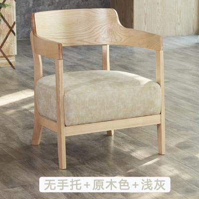 Owsud's Store Solid Wood Coffee Shop Sofa Table and Chair Combination Book bar Creative Dessert Shop Simple 003 Clear bar Leisure Single seat