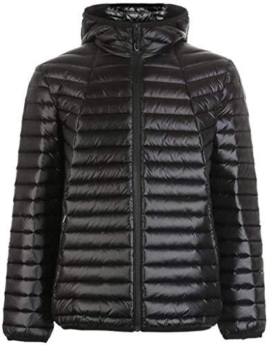 BGTEEVER Men's Hooded Thin Down Coat,Autumn Winter Windproof Warm Down Jacket,Winter Clothes (Color, Black, Size, L),Black,M