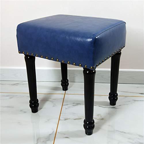 Lwsofa stool kleine kruk voor make-uptafel meerkleurig – kussen bekleed diep van kunstleer – zitzak gestoffeerd, luxueus, modern