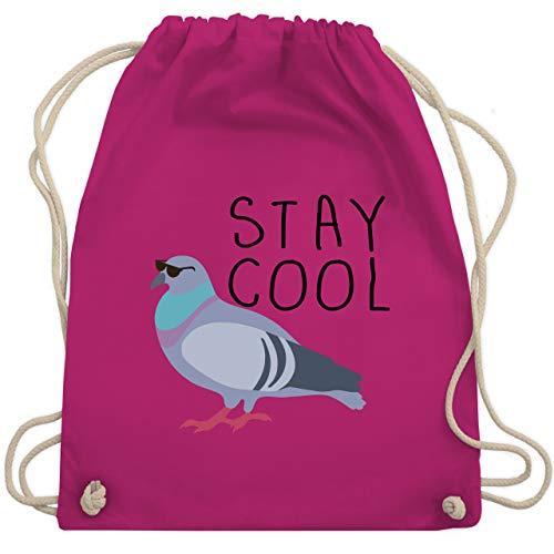 Shirtracer Statement - Stay Cool - Unisize - Fuchsia - Statement - WM110 - Turnbeutel und Stoffbeutel aus Baumwolle