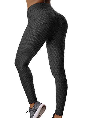 FITTOO Damen Sport Leggings Leggings Yoga Fitness Hose Lange Sporthose Stretch Workout Fitness Jogginghose Design 3 - Schwarz S
