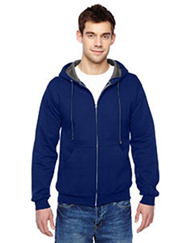 Fruit of the Loom sweat à capuche homme - Bleu - XXX-Large