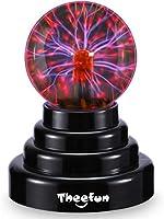 ❤Stromquelle: Lehrreiche, berührungsempfindlich und interaktives Plasmakugel: Die durchsichtige Glaskugel generiert durch die Oberfläche der Kugel bunte elektrischen Ströme, perfekt um Wissenschaft zu demonstrieren. Platzieren Sie Ihren Finger an die...