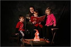 Pretend campfire for kids room