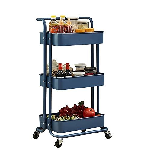 Met Love Microondas Horno Rack Extensible Microondas Horno Rack pesado Carga Microondas Estante de Microondas Soporte Almacenamiento de cocina Organizador (Color : Blue)