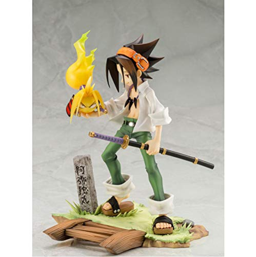 VENDISART Anime Shaman King YOH Asakura PVC Figura de acciónv 18cm Figuras de Anime Modelo Juguetes Colección Muñeca Regalo