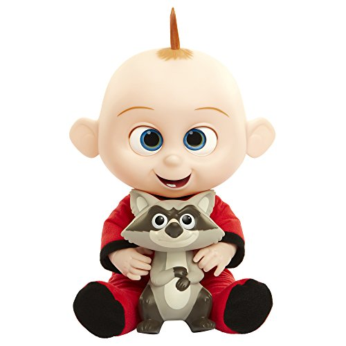 The Incredibles 2 Jack-Jack with Raccoon Plush Toy Lights & Sounds Action Figure