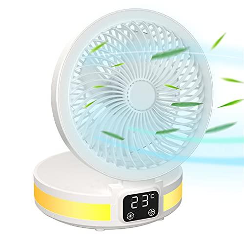 SHANGH Ventilador de Escritorio USB Ventilador de Escritorio Pequeño Ventilador de Escritorio Portátil Personal Fuente de Alimentación de Batería de 6000Mah Ventilador Ultra Silencioso