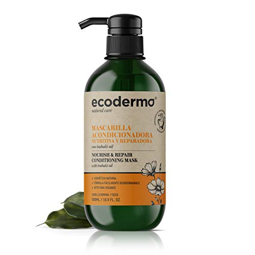 Ecoderma Nourish & Repair Conditioning Mask 500ml - Restructures Hair, Repairing Damages And Protecting Them Against Breakage